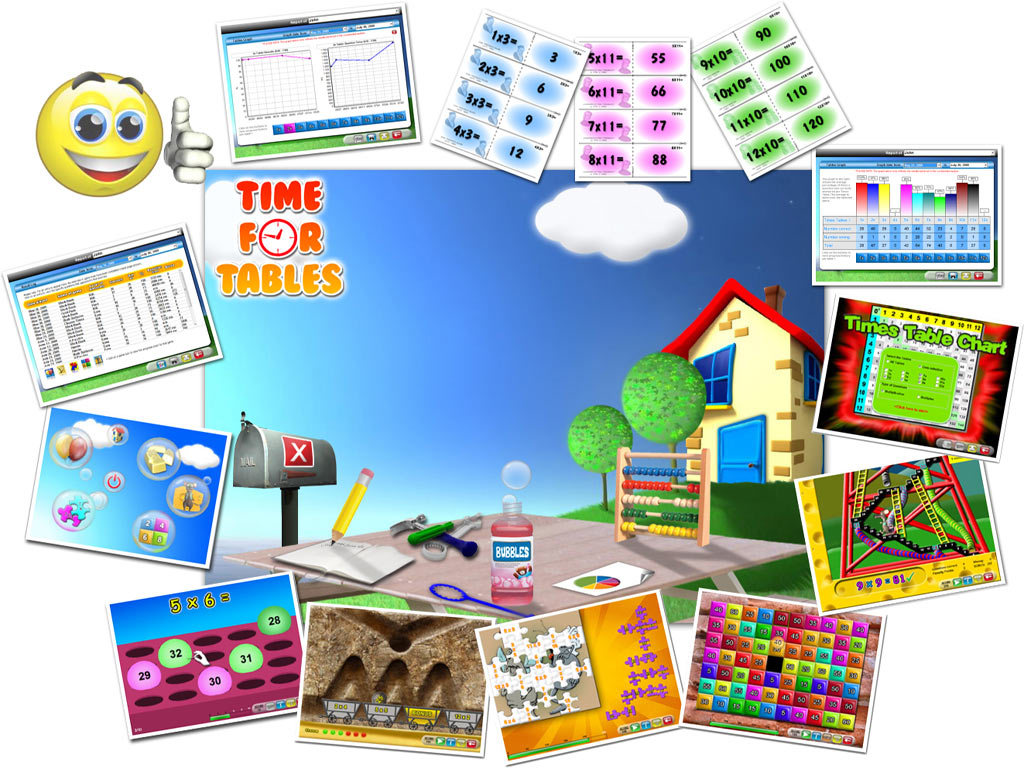 Time for Tables - Times Tables, Multiplication Tables,Times Table,Multiplication facts,Timestables - Knowing your Tables can be child's play with Time for Tables' games &a